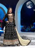 Designer Georgette with Embroidered Straight Suits