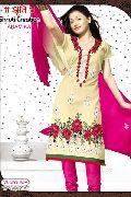 Chanderi Silk 4 piece Dress Material