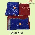 Original Satin Bandhej Dress Material