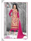 Pur Faux Georgette with Embroidered and Hand Work Suit