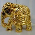Gold plated decorative statue