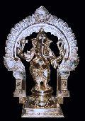 Brass Standing Ganesh Statue