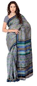 Animal Printed Silk Saree