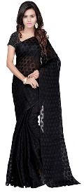 Casual Black Jacquard Saree