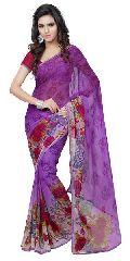 Casual Printed Chiffon Saree