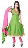 Green Embroidered Salwar Kameez