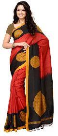 Polka Printed Silk Saree
