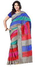 Striped Bhagalpuri Silk Saree