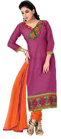 Women Wear Chanderi Dress Material
