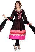 Black and Pink Anarkali Salwar Kameez