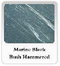 Marine Black Bush Hammered Marble