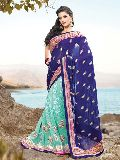 Beautiful Traditional Butti Embroidered Saree
