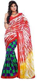Charming Multi Colored Printed Art Silk Saree