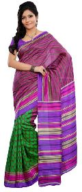 Fashionable Green Colored Printed Art Silk Saree
