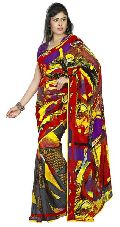 Picturesque Printed Casual Wear Faux Georgette Saree 4011b