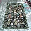 Handmade Art Silk Staple Carpets