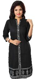 Black and White Ethnic Grace Kurta for Modern Woman