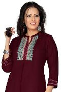 Fine Silhouetted Black Marvellous Indian Tunic Top