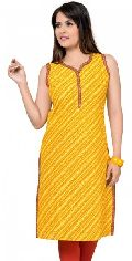 Little Ms. Sunshine Yellow Orange Cotton Fashion Long Tunic