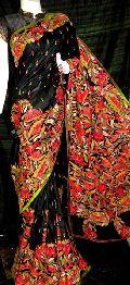 Kantha Work Silk Saree