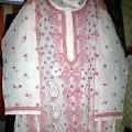 Chikan Embroidered Cotton Kurti