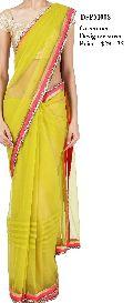 Designer Yellow Net Saree