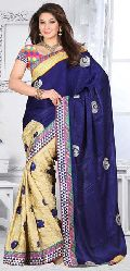 Chiffon Half And Half Sarees