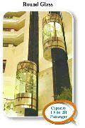 Round Glass Panoramic Capsule Elevator