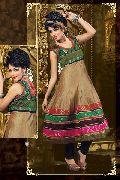Chanderi Cotton Silk Anarkali Suit