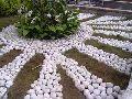 White Rough Pebbles