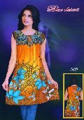 Printed Cotton Yellow Kurti