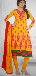Designer Dark Yellow Ladies Suit