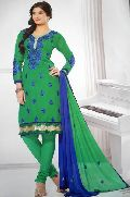 Designer Green Blue Ladies Suit