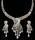 Diamond Gold Necklace Set (CWWDGR001)