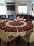 Round Table Cover with Kalam Kari Work