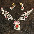 Cz Necklace Set 1017