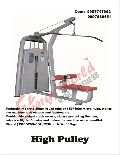 High Pulley Exercise Machine