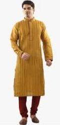 Mens Cotton Stripes Kurta Pajama