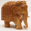 Wooden Ambabari Elephant Statue