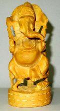 Wooden Dancing Ganesh Statue
